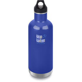Klean Kanteen Classic Vacuum Insulated Borraccia Loop Cap 946ml blu